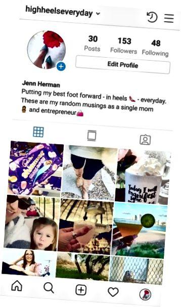 Elementy profilu na Instagramie