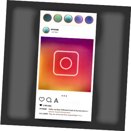Ilustracja na Instagramie