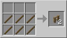 рецепта за изработка на огради за Minecraft