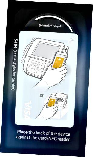 Samsung Pay-fingeravtrykkskjerm