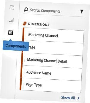 Adobe Analytics-segmentkomponenter