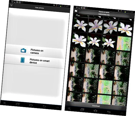 Du kan vise miniatyrbilder av bilder som er lagret på kameraets minnekort.