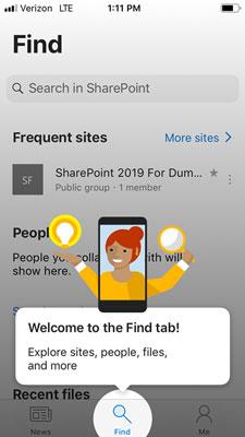 SharePoint Mobile startskærm