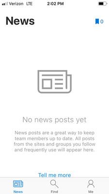 SharePoint Mobile News fanen