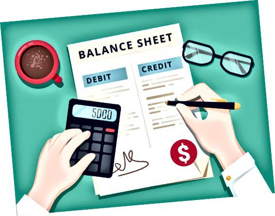 счетоводител, работещ с баланс