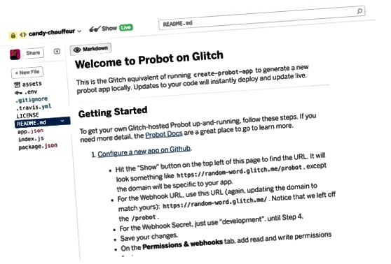 GitHub Glitch Probot-app
