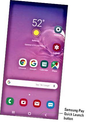 Lançamento rápido do Samsung Pay