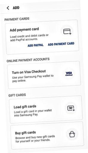 Samsung Pay cartão de crédito adicionar página