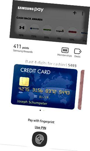 Tela de pagamento Samsung Pay