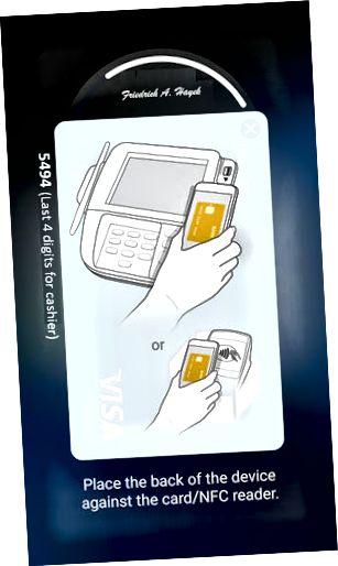 Tela de impressão digital Samsung Pay