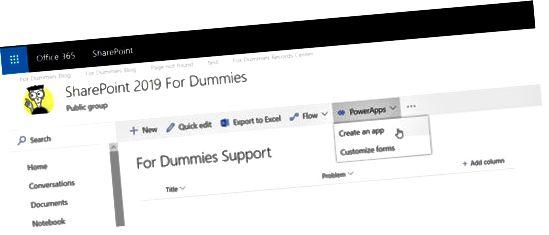 PowerApp да работи със SharePoint списък