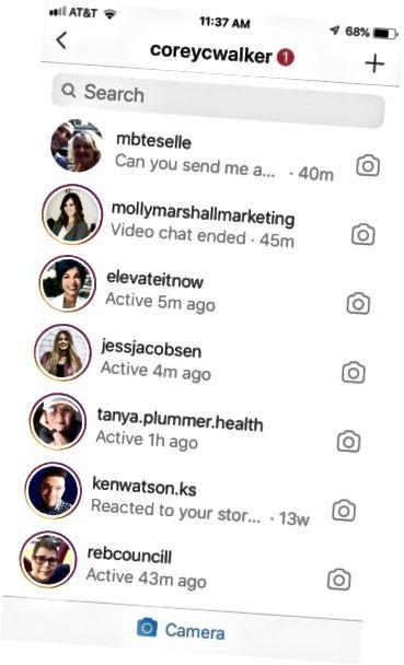 kameralink Instagram-melding