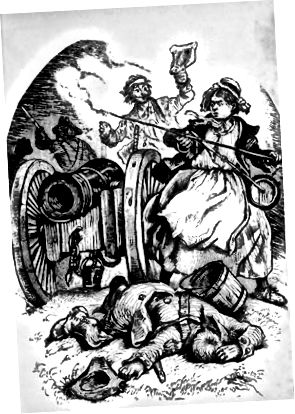 Illustration af Molly Pitcher