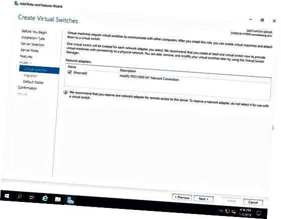 virtuel switch netværksadapter