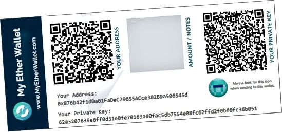 papir Ethereum tegnebog