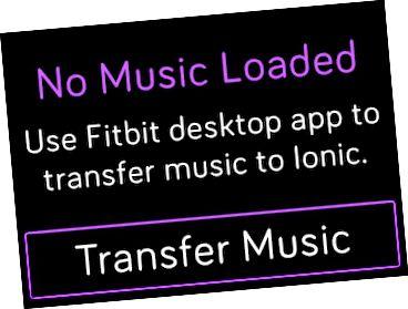 Overfør musik til din Fitbit