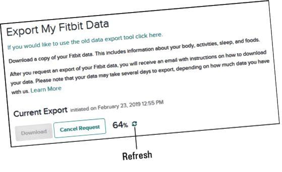 Fitbit nuværende eksport