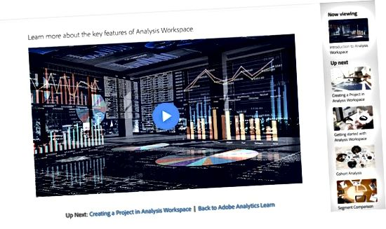 Tutoriais em vídeo do Adobe Analytics