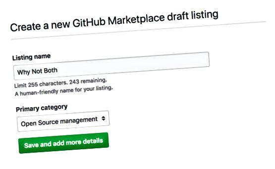 GitHub ऐप फ़ॉर्म