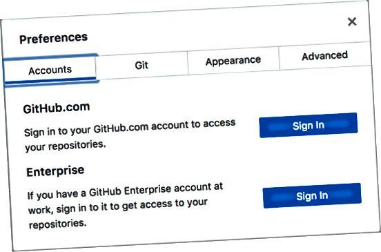 GitHub-påloggingsdialogboksen