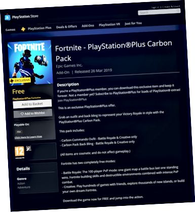 Fortnite – PlayStation Plus karbonpakke