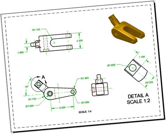 AutoCAD tegning