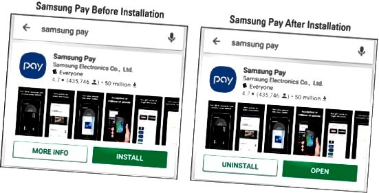 Samsung Pay-app
