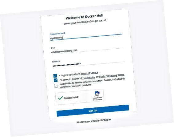 Акаунт на Docker Hub