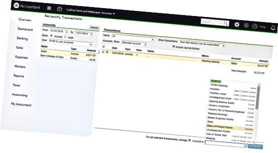 QBO omklassifisering av transaksjoner