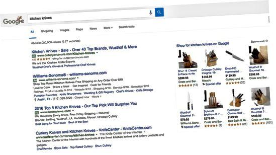 Google-søgeresultater