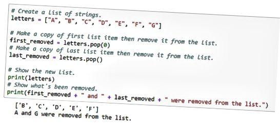 fjerne elementer fra Python-listen