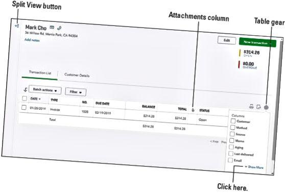 QuickBooks-online vedhæftede filer