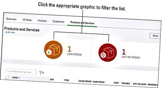 QuickBooks Online-filtrering