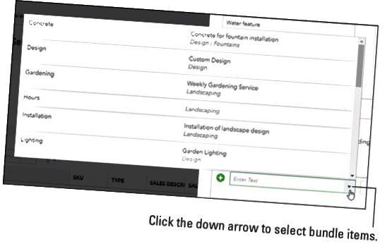 QuickBooks Online bundt-vare