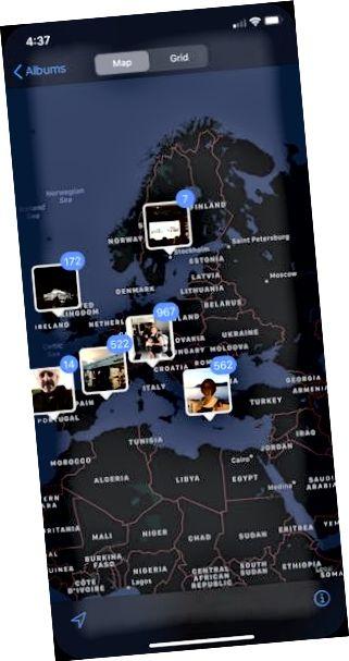 स्थान से iPhone तस्वीरें खोजें