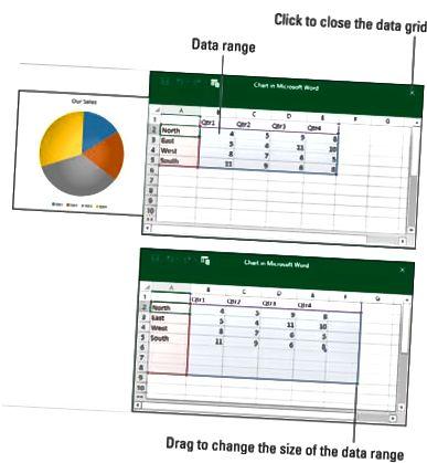 wprowadź dane w siatce danych