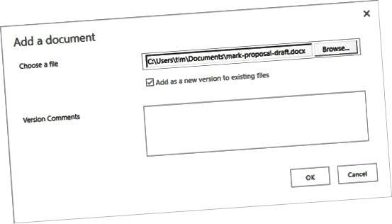 przesyłanie do biblioteki dokumentów