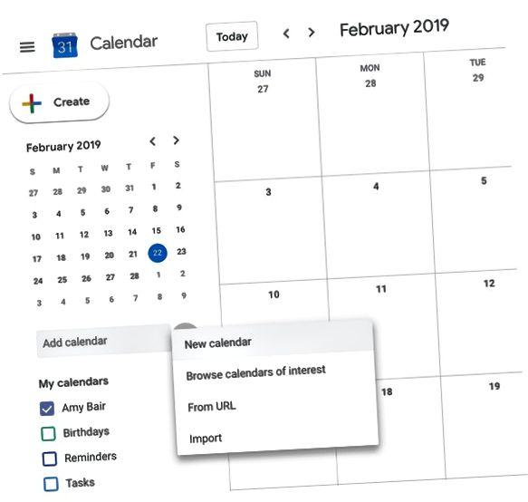креирање Гоогле календара