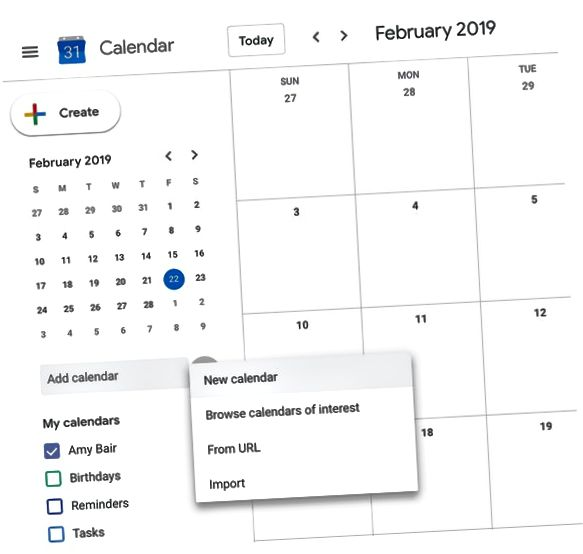 Google kalender maken