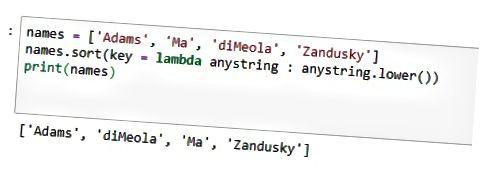 Expressão lambda Python