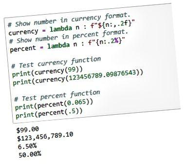 Números de formatação Python