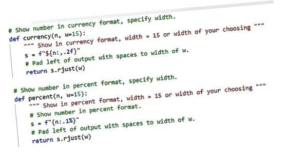 Função de formatação Python largura fixa