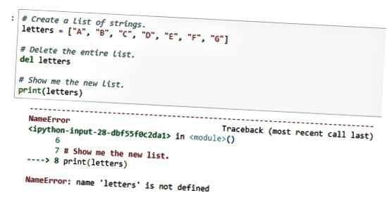 excluir lista Python