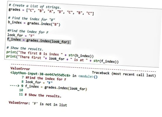 Индекс элемента списка Python