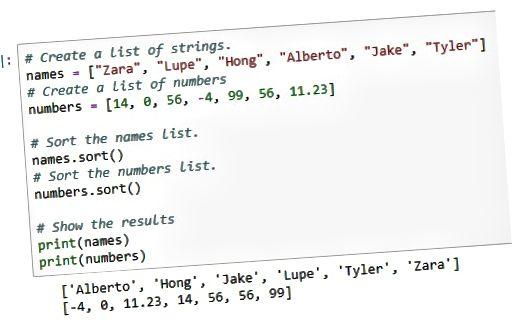 сортировать список Python