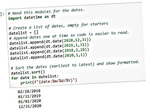 exibir datas em Python