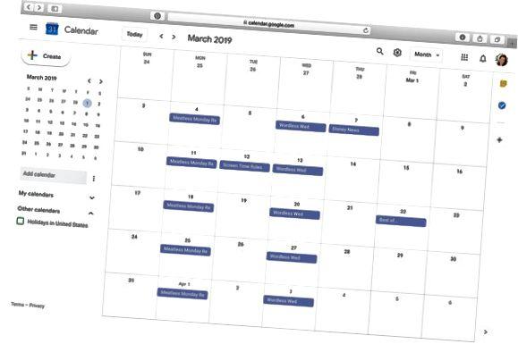 گوگل کیلنڈر