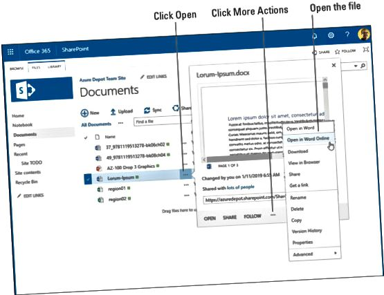 Biblioteca de documentos de SharePoint