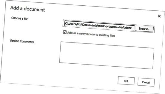 opplasting til dokumentbibliotek