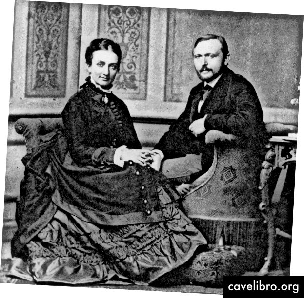 Richard von Krafft-Ebing et son épouse Marie-Louise.